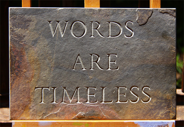 Hand Cut Lettering - Words Are Timeless