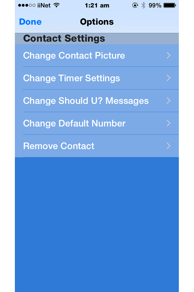 contact app for iPhone SHOULDu